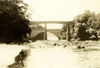 Looking west at Tongland Viaduct in the 1930s. [Old family photograph]<br><br>[John Furnevel Collection&nbsp;//]