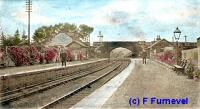 New Galloway station, looking west. The station is actually in Mossdale.<br><br>[John Furnevel Collection&nbsp;//]