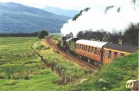 The Great Marquess and K1 No2005 head towards Bridge of Orchy with a Centenary Special in 1994.<br><br>[John Gray&nbsp;//]