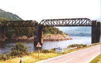 Creagan Viaduct in 1997.This has now been replaced by a road bridge.<br><br>[John Gray&nbsp;//]
