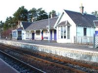 Carrbridge Station Building.The extended large windowed bay on the left was the signal cabin.<br><br>[John Gray //]