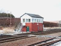 Dalwhinnie Signal Box on 25-02-04.<br><br>[John Gray&nbsp;//]