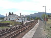 Dalwhinnie Station.This station is unstaffed and the building is used by First Engineering as a depot.All the houses built by the Highland Railway are now privately owned including the one on the left in the photograph.<br><br>[John Gray&nbsp;//]