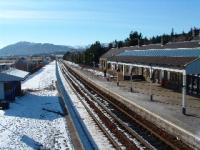 Kingussie Station looking south in February 2004.<br><br>[John Gray&nbsp;/02/2004]