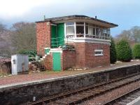 Spean Bridge signal box (disused) survives in good condition. It appears as though someone is using it as a greenhouse.<br><br>[John Gray&nbsp;//]