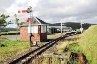 The new narrow gauge railway station at Leadhills viewed from the west.<br><br>[Ewan Crawford&nbsp;15/08/2004]