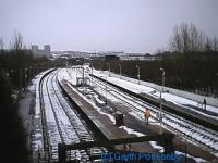 Looking southeast over the platforms of Springburn station.<br><br>[Garth Ponsonby&nbsp;//]