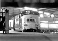 Evening arrival from Kings Cross at Leeds in June 1972 behind Deltic 9017 <I>'The Durham Light Infantry'</I>.<br><br>[John Furnevel&nbsp;19/06/1972]