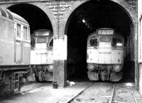 A trio of type 2s on Ayr shed in June 1970 with 5406 nearest the camera.<br><br>[John Furnevel&nbsp;19/06/1970]