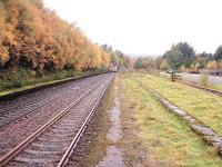 Platforms of the former Station at Tomatin.<br><br>[John Gray&nbsp;14/10/2004]
