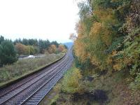 View South from Tomatin Signal Box.<br><br>[John Gray&nbsp;14/10/2004]