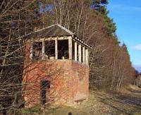 The signalbox at Glamis station, looking east.<br><br>[Bruce Dunn&nbsp;//]