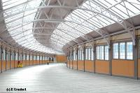 The glazed walkway from station to pier is on a gentle curve. This view looks towards the pier.<br><br>[Ewan Crawford&nbsp;4/6/2004]