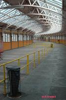 Looking towards the station from the end of the curved walkway to the pier. Today a door to the right leads to the pier.<br><br>[Ewan Crawford&nbsp;4/6/2004]