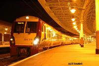 A 334 train prepares to leave platform 2 for Glasgow.<br><br>[Ewan Crawford&nbsp;4/6/2004]