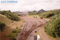 Looking north at the Ebbw Vale Steelworks, now closed and demolished.<br><br>[Ewan Crawford&nbsp;//]