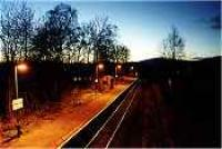 Looking west over Roy Bridge station at night<br><br>[Ewan Crawford&nbsp;//]