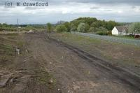 View looking north at Ferniegair. The new Chatelherault station will be built on the left here.<br><br>[Ewan Crawford&nbsp;2/5/2004]
