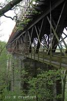 Looking south alongside Broomhill Viaduct (often referred to as Larkhall Viaduct). This is Scotlands highest girder viaduct. Today it is a dangerous structure. Keep off!<br><br>[Ewan Crawford&nbsp;2/5/2004]