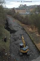 View looking north towards Maryhill at Dawsholm during vegetation clearance.<br><br>[Ewan Crawford&nbsp;15/4/2004]
