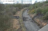 View looking south towards Anniesland over the future site of Kelvindale station.<br><br>[Ewan Crawford&nbsp;15/4/2004]
