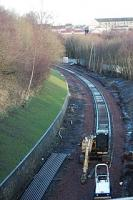 View looking north as the track approaches Dawsholm from the north.<br><br>[Ewan Crawford&nbsp;18/12/2004]