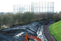 View looking south towards Anniesland over the under construction Kelvindale station.<br><br>[Ewan Crawford&nbsp;18/12/2004]