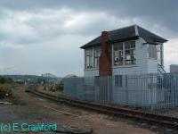 Signalbox at Rosyth. The Forth Bridge can be seen beyond.<br><br>[Ewan Crawford&nbsp;//]