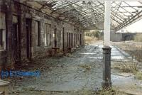 Under the canopy of the former westbound platform at Dunfermline Upper (now demolished). View looks west.<br><br>[Ewan Crawford&nbsp;//]