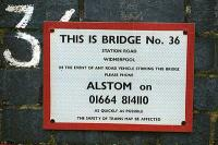 Sign on Widmerpool overbridge. The line is now the Alstom test track.<br><br>[Ewan Crawford&nbsp;//]