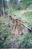 Former goods platform at the east end of the Blanefield station site.<br><br>[Ewan Crawford&nbsp;//]