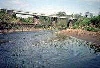 Drymen viaduct, now in use for the Loch Lomond Water Supply Scheme water pipe, looking north.<br><br>[Ewan Crawford&nbsp;//]