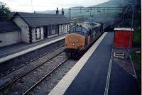 37 hauled passenger train heads for Glasgow at Old Kilpatrick.<br><br>[Ewan Crawford&nbsp;//]