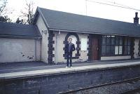 Back when stations were staffed ... staff at Old Kilpatrick station. Building still exists but has been boarded up for years.<br><br>[Ewan Crawford&nbsp;//]