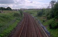 View looking west at Shotts. The line was crossed here by the North British Railway.<br><br>[Ewan Crawford&nbsp;//]