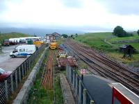 Track panels for points await use at Kirkby Stephen.<br><br>[Ewan Crawford&nbsp;10/07/2006]