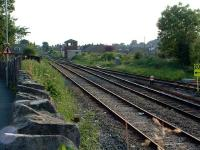 Looking south to Horrocksford Junction. The two line on the left run through to Hellifield and that to the right goes to the Clitheroe cement works.<br><br>[Ewan Crawford&nbsp;03/07/2006]