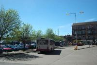 Partick Interchange. Bus station in the foreground and railway station beyond.<br><br>[Ewan Crawford&nbsp;05/05/2006]