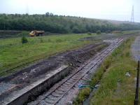 Onllwyn looking south-west to Neath. The poor old station is in the foreground and the truck is bringing coal to the washery. <br><br>[Ewan Crawford&nbsp;06/07/2006]