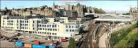 With the old office block of New Street bus depot now demolished the full impact of the new Edinburgh council HQ on this part of the Old Town can be clearly seen in this 23 July 2006 panorama.<br><br>[John Furnevel&nbsp;23/07/2006]