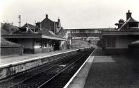 Looking South. Larkhall Central.<br><br>[G H Robin collection by courtesy of the Mitchell Library, Glasgow&nbsp;12/07/1962]