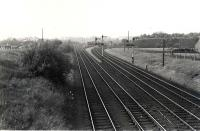 Looking North. Ferniegair Junction.<br><br>[G H Robin collection by courtesy of the Mitchell Library, Glasgow&nbsp;12/07/1962]