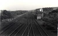 Looking South. Ferniegair Junction.<br><br>[G H Robin collection by courtesy of the Mitchell Library, Glasgow&nbsp;12/07/1962]