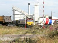 EWS 66122 trying to find a way out of Leith Docks on 28 July 2006 with a trainload of imported Russian coal destined for Cockenzie power station.<br><br>[John Furnevel&nbsp;28/07/2006]