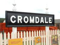 Cromdale station nameboard. This station has been well restored by its owner and is one of the highlights of the Speyside Way. A five star attraction. You must seek the owners permission before looking round. 03/08/06.<br><br>[John Gray&nbsp;03/08/2006]