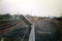 To the west of the former Elderlie station the former trackbed of the Kilmacolm line can be seen branching off northwards to the right.<br><br>[Ewan Crawford&nbsp;//1987]