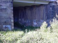 This view looks north at the point where the fly-under went under the main line and headed towards Cart Junction. The track bed here is now part of the cycle network.<br><br>[Graham Morgan&nbsp;26/06/2006]