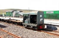 A PW train alongside the platform at Leadhills in August 2006.<br><br>[John Furnevel&nbsp;04/08/2006]