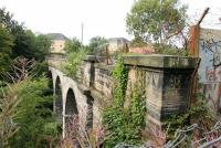 Looking south over the former Glasgow Central Railway viaduct spanning the River Kelvin in August 2006. <br><br>[John Furnevel&nbsp;02/08/2006]
