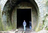 A boggy but somewhat open entrance to the Tunnel attracts many a speculative visitor.<br><br>[Colin Harkins&nbsp;16/04/2006]